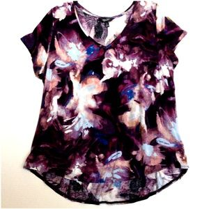 *3/$25* Simply Vera Purple Floral Tee